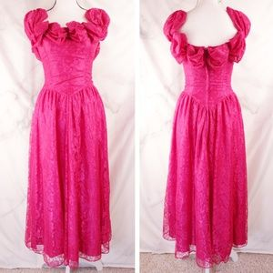 ✨VTG✨ 80s Lacey Gown